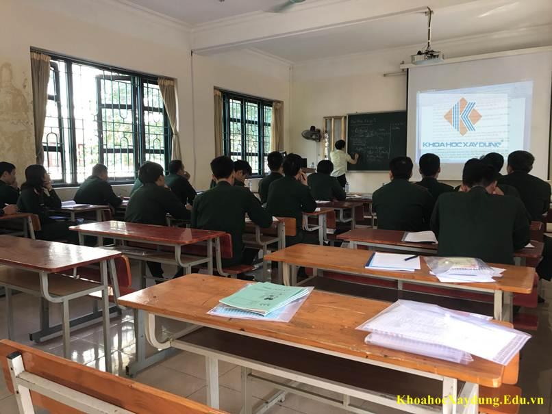 Lớp Đấu Thầu tại trường sỹ quan Quân đội